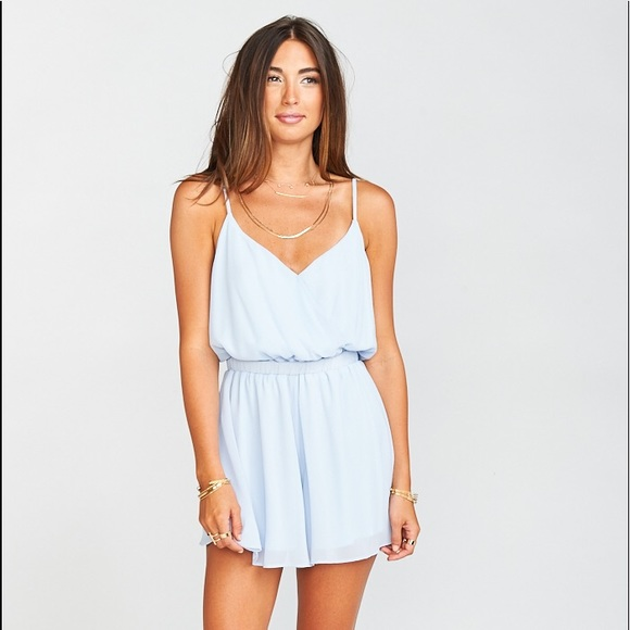 2d5206bfe86 New Show Me Your Mumu OLYMPIA ROMPER PERIWINKLE
